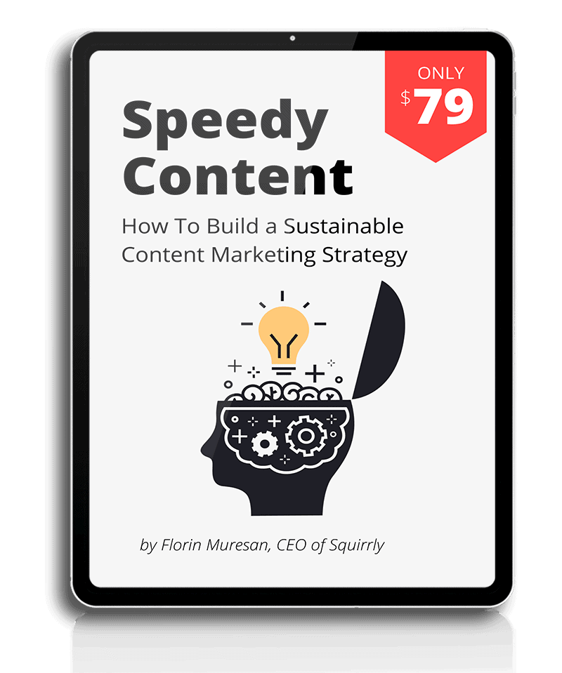 Image of speedy content e-book by squirrly